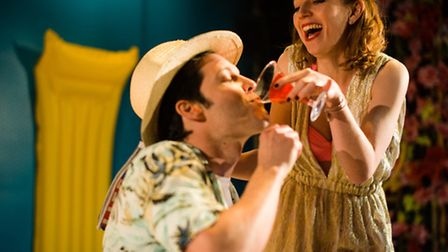 Marc Callahan and Una Reynolds in L'Elisir D'Amore. Photo: Christopher Tribble