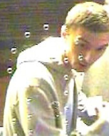 Police want to speak to this man in connection with the incident in Finsbury.