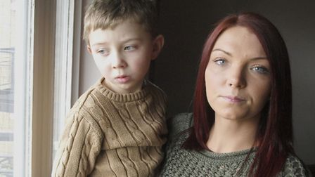 Hayley O'Connell with her four-year-old son Alfie. Picture: Tony Gay