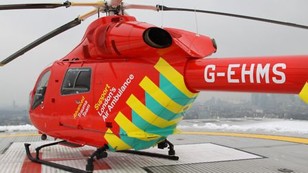 Air Ambulance were called to the scene in Empire Way