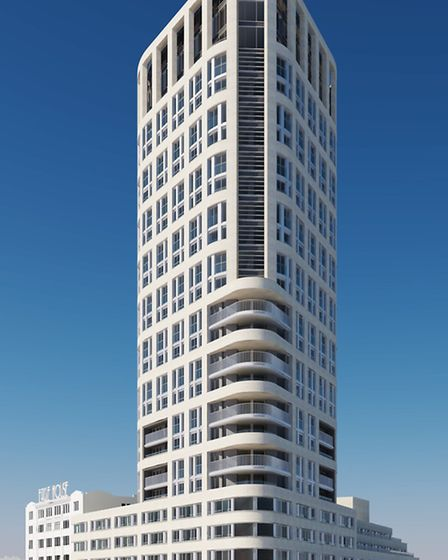 Image of how the Eagle House development in City Road, Finsbury, will look.