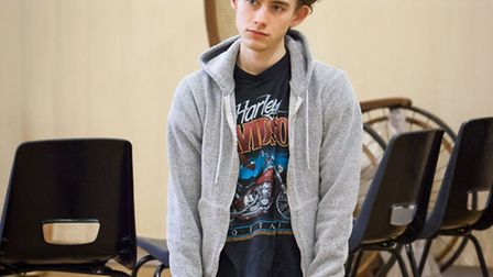 Olly Alexander in rehearsals for Peter and Alice. Picture: Marc Brenner