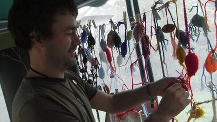 People can try their hand at knitting a neuron