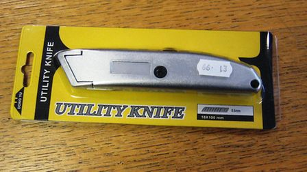 The two boys were sold this utility knife