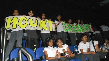 Children from Mount Stewart Primary School at the O2 arena