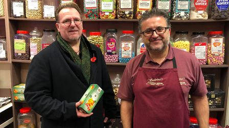 Salvinas Traditional English Sweets owners, Glenn Cracknell, 52, and Lawrence Stafrace, 51, both fro