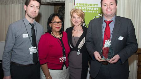 left to right: Toby Morgan, Islington Council, Baroness Verma and Christine Tate, British Gas, John