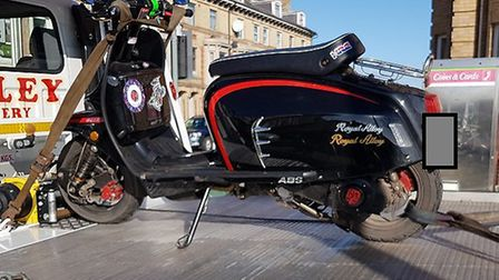 On Monday (February 11) police in Lowestoft seized a motorcycle that did not have insurance.
