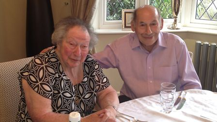 Donald Siteman with his late wife Evelyn