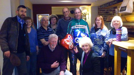 Ray Tucker (in green jacket) took part in a fundraising quiz held by Friends of Preston Library