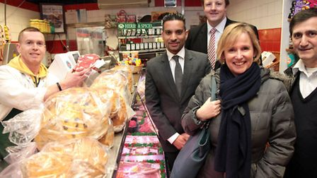 Toby Perkins MP, shadow minister for small business, visits shops on Willesden High Road