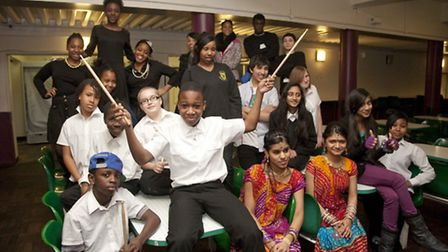Students at Copland Community School who competed in Copland's Got Talent