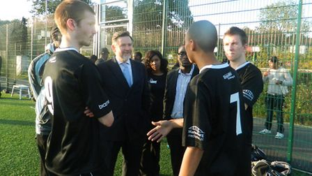 Barry Gardiner, MP for Brent North, visited the tournament over the summer