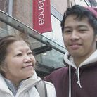 James Olivo, 17, and mum Imelda, 58. Picture: Tony Gay