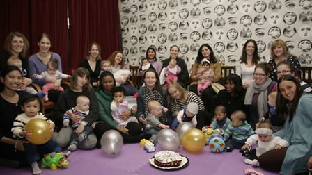 Bumps and babies enjoyed their second birthday today
