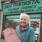 John Holland at his shop Sew Fantastic!