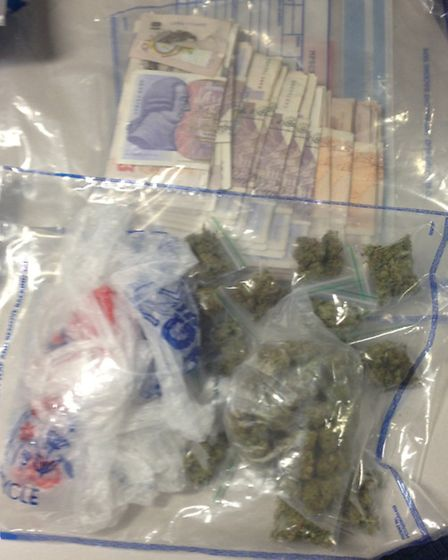 Drugs and cash recovered this morning