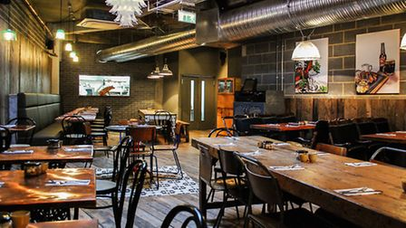 The interior has that classic Shoreditch industrial look Pic: Yeshen Venema