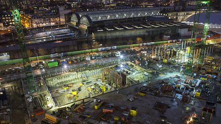 The night shift on the King's Cross development