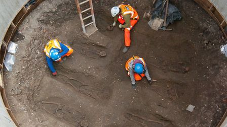 The scene of the dig in Finsbury