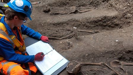 The suspected 'plague pit' in Finsbury