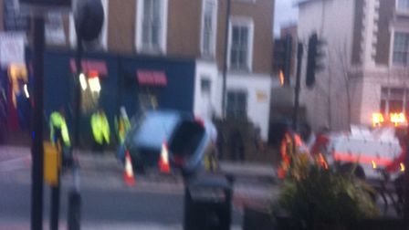 The scene of the accident in Camden Road