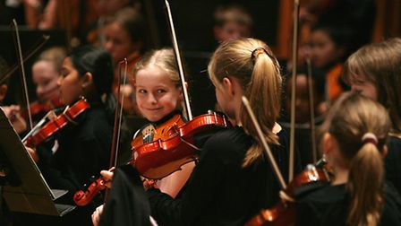 Young musicians at LSO St Luke's Pic: Kevin Sands