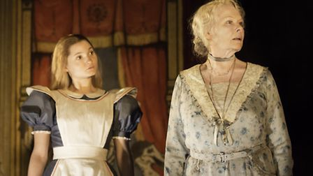 Ruby Bentall (fictional Alice) and Judi Dench (Alice Liddell Hargreaves) in Peter and Alice at the N