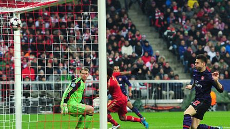 Olivier Giroud gave Arsenal hope when he opened the scoring after just three minutes against Bayern