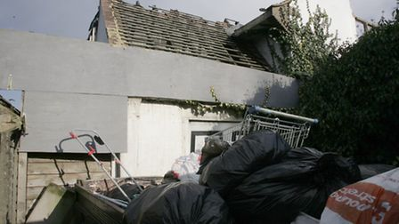 Rubbish has been accumulating outside the property