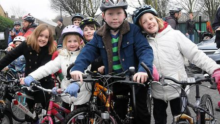 Children gear up for the Tour de Tufnell Park. Picture: Dieter Perry
