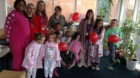 Children and teachers at Leopold School wore their pyjamas for Red Nose Day