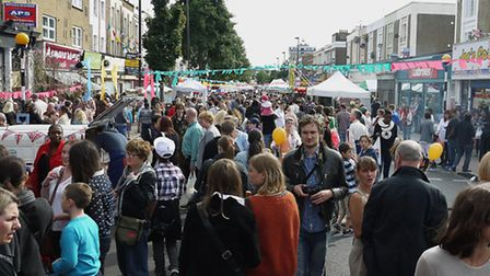 Crowds flock to the Cally Festival. Pic: Tony Gay