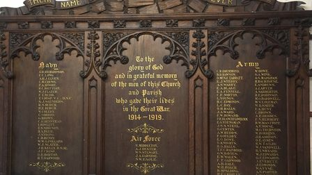 The memorial that used to be based at the former St John's Church, now appears at the Lowestoft War