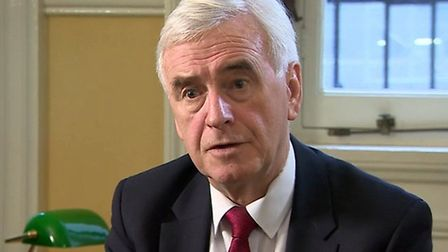 """John McDonnell says People's Vote is """"inevitable"""". Photograph: BBC"""