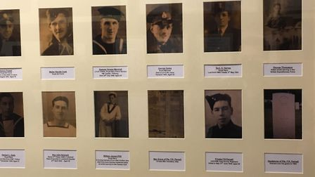 Some of the photographs and displays at the Lowestoft War Memorial Museum. Pictures; Mark Boggis
