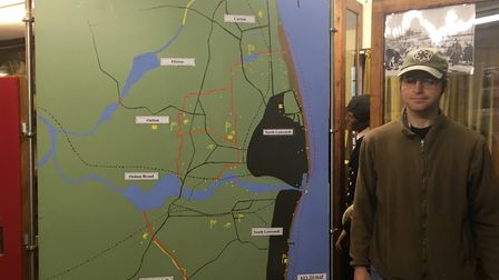 Robert Jarvis, curator at the Lowestoft War Memorial Museum, by one of the displays. Pictures; Mark