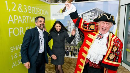 Caption for the image L-R: Leader of the Council Cllr Muhummed Butt, Cllr Krupa Sheth and Tony Apple