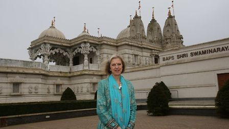 Rt Hon Theresa May attended Neasden temple for the International Women's Day conference