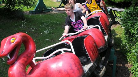 On The Rattlesnake at Pleasurewood Hills Theme Park in Lowestoft in June 2010 Picture: James Bass