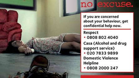 A hard hitting domestic violence campaign launched by Islington Council