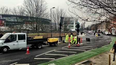 The controversial Drayton Park width restriction
