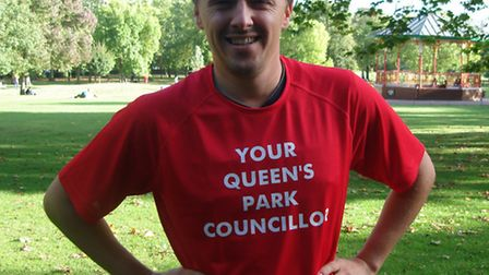 Cllr James Denselow will be running the Bournemouth Marathon to raise funds for The Mayhew