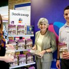 Andy Ryan, director of Stellar Libraries and Cityread London, pictured left to right with Cllr Janet