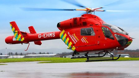 Woman was airlifted to hospital