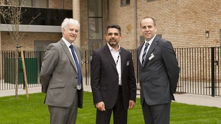 Jerome Geoghegan , L&Q's group director for development and sales, Cllr Muhammed Butt, Leader of Bre