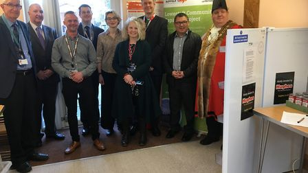 The official launch of the Lowestoft Community Fridge project. Pictures: Mark Boggis