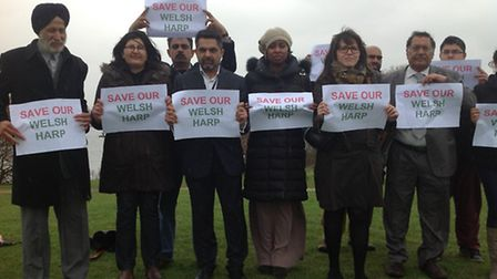 Cllr Muhammed Butt, fourth from the right, is urging tesidents to attend a public meeting against th