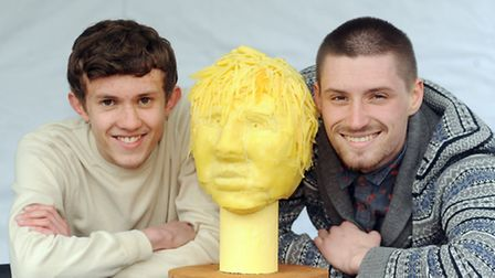 Barnet and Southgate College art and design students Charlie Neville and Alex Samson-Bunce unveil a