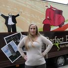 Charley Young by her food van, she spent a load of money to get a portable food business together on